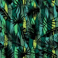 Nahtloses exotisches Muster mit tropischen Anlagen. vektor