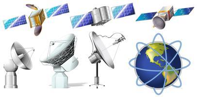 Eine Gruppe von Satelliten vektor