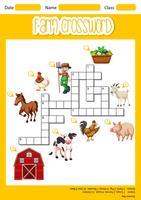 Ein Bauernhof-Kreuzworträtselblatt