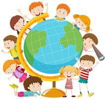 Kinder rund um den Globus vektor