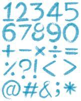 Numrerar i blåa färger