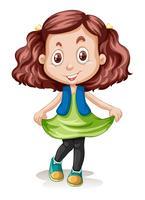 Eine brünette Haare Mädchen Charakter vektor