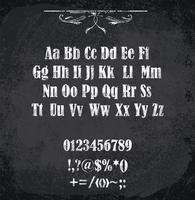 Vektor illustration av chalked alfabetet