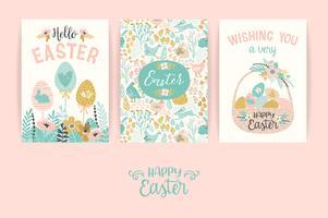 Glad påsk. Vektor mallar