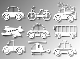 Olika typer av transporter vektor