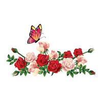 schönes Blumenarrangement vektor