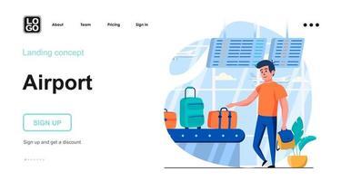 Flughafen-Webkonzept vektor