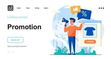 Werbe-Web-Konzept vektor