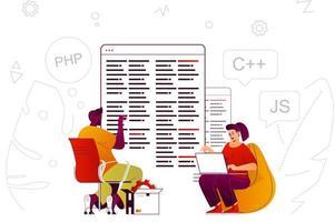 Programmiersoftware Webkonzept vektor