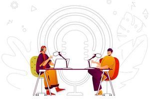 Podcast-Webkonzept vektor