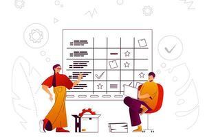 Geschäftsplanung Webkonzept vektor