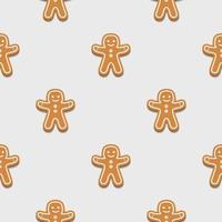 Lebkuchenmann. Weihnachtsplätzchen. nahtlose Muster Hintergrund. vektor