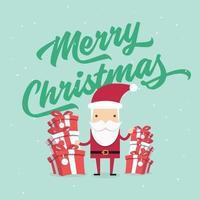 Weihnachts- und Neujahrsgrußkarte. vektor