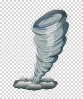 Großer Tornado lokalisierte Grafik vektor