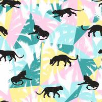 Nahtloses Muster mit abstrakten Leoparden.