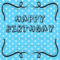 Kartenvorlagendesign für Geburtstag vektor