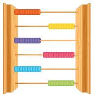 En abacus på whute bakgrund vektor
