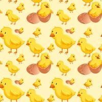 Chick kläckning ägg sömlöst vektor