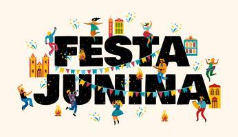 Festa Junina Vektorvorlagen für Banner. vektor