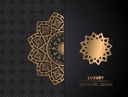 Luxus Zier Mandala Hintergrund vektor