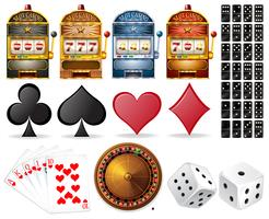 Casino satt med kort och spel