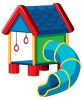 treehouse med glid lekplats vektor