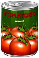 Kan av tomater hela vektor