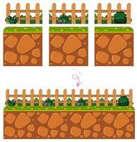 Zaun Game Element auf weißem Hintergrund