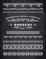 Vektor Ornamente Grenzen. Dekorative Gestaltungselemente.