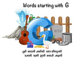 Ord som börjar med bokstav G vektor