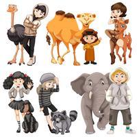 Sats av människor och djur