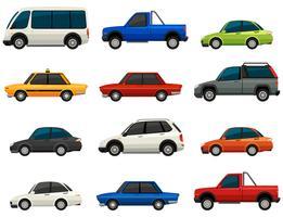 Sats av fordon vektor