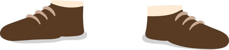 brauner Schuhvektor. Vektorgrafiken für Bekleidungsdesign. vektor