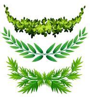 Pflanzendesign für die Dekoration