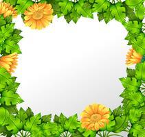 Naturgul blomma gräns