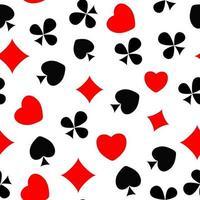abstrakter nahtloser Musterhintergrund mit Kartenanzügen. Vektor-Illustration. vektor
