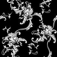 Nahtloser vektorhintergrund. Barockes Muster
