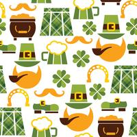 St Patrick's Day sömlöst mönster vektor
