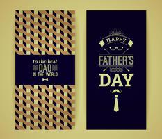 Grattis på faderns dagkort i retrostil.