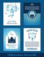 Ramadan Kareem. Set av Ramadan design mallar. vektor