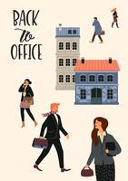 Vectior illustration av människor som går till jobbet. vektor