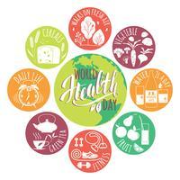 Världshälsodagskonceptet.