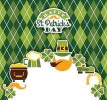Saint Patricks Day baskground. vektor