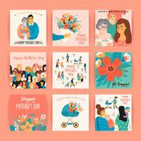 Schönen Muttertag. Vektorvorlagen für Karten, Poster, Banner und andere Zwecke.