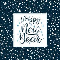 Frohes neues Jahr Schriftzüge. Vektorelemente.