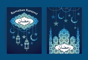 Ramadan Kareem. Vektor illustration.