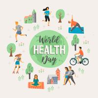 Weltgesundheitstag. Gesunder Lebensstil.