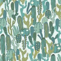 Vektornahtloses Muster mit Kaktus. Wiederholte Textur mit grünen Kakteen.