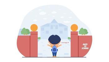 glückliche Kinder können wieder zur Schule gehen vektor