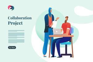 Kollaborationsprojekt vektor
